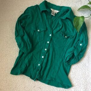 SALE Sophie Max Green Button Down